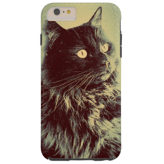Gato noruego negro del bosque funda para iPhone 6 plus tough