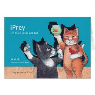 Gato Notecard del cumpleaños del iPrey de B y de T Tarjeta Pequeña