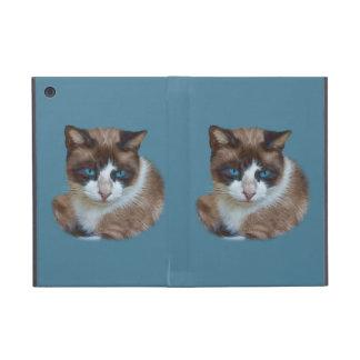 Gato observado azul iPad mini protector