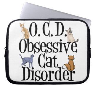 Gato obsesionado fundas ordendadores