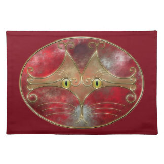 Gato-Ojos Placemat Mantel Individual