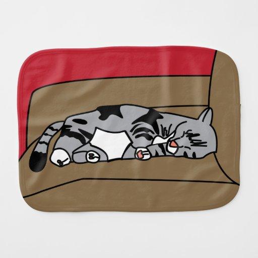 Gato Olivia el dormir Paños Para Bebé