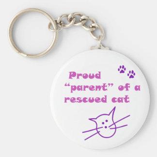 gato orgulloso llavero redondo tipo pin