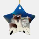 Gato orgulloso ornaments para arbol de navidad