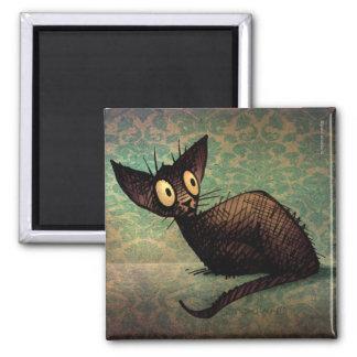 Gato oriental negro lindo imán