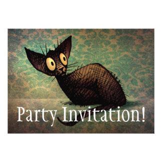 Gato oriental negro lindo anuncio personalizado