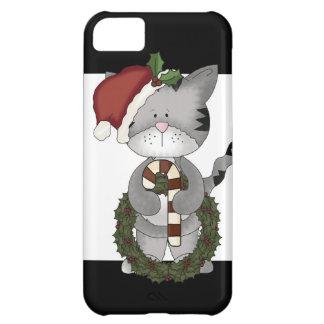 Gato Papá Noel del navidad Carcasa Para iPhone 5C