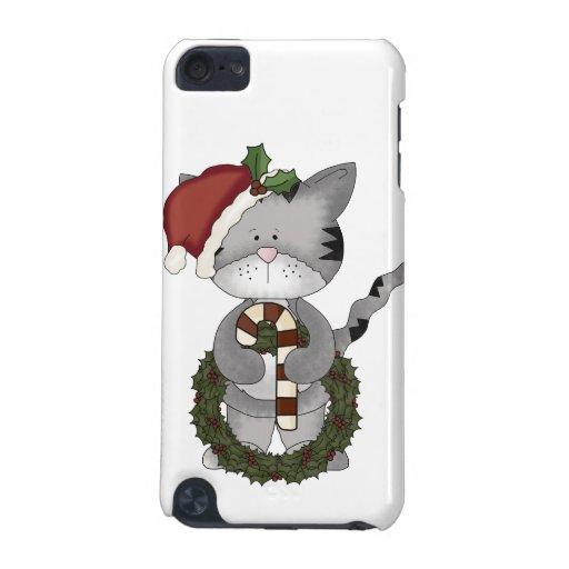 Gato Papá Noel del navidad Funda Para iPod Touch 5G