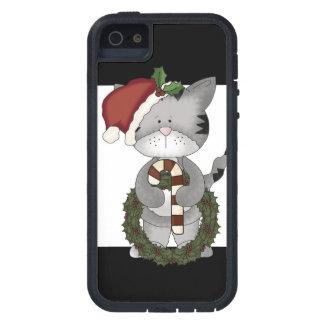 Gato Papá Noel del navidad Funda iPhone SE/5/5s