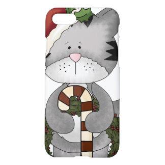 Gato Papá Noel del navidad Funda Para iPhone 7