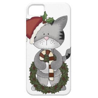 Gato Papá Noel del navidad Funda Para iPhone SE/5/5s