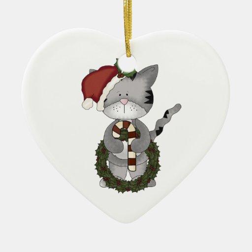 Gato Papá Noel del navidad Ornamentos De Navidad