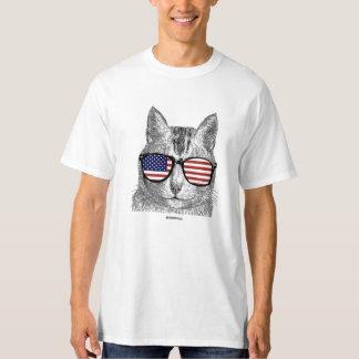 Gato patriótico playera