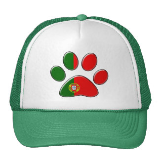Gato patriótico portugués gorro