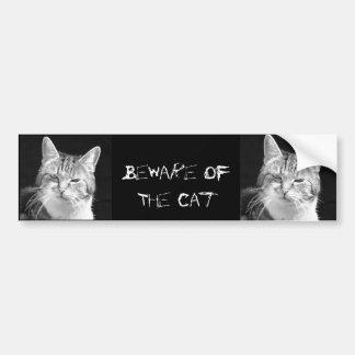 gato pegatina para auto