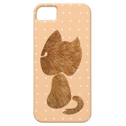 Gato peludo iPhone 5 fundas