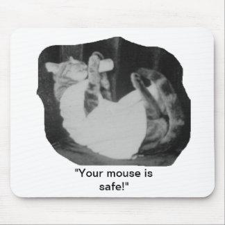Gato perezoso alfombrillas de ratón