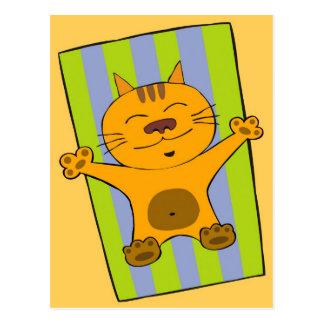 Gato perezoso postales