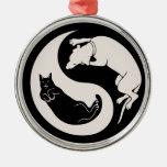 Gato-Perro Yin-Yang Ornamentos Para Reyes Magos