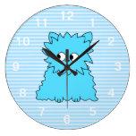 Gato persa azul lindo reloj de pared