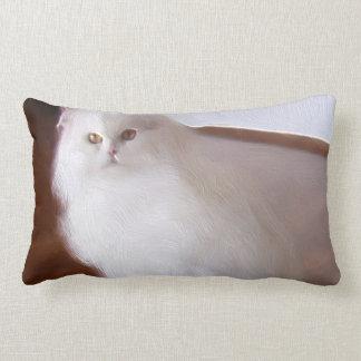 Gato persa blanco almohada