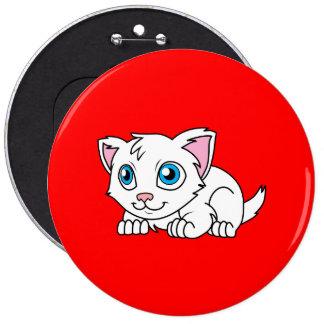 Gato persa blanco lindo feliz con los ojos azules