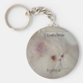 Gato persa blanco llavero personalizado