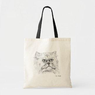 Gato persa bosquejado Digital con los ojos grandes Bolsa