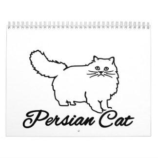 Gato persa calendario de pared