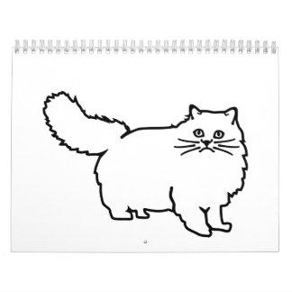 Gato persa calendarios de pared