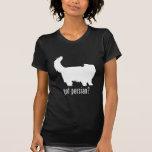 Gato persa camiseta