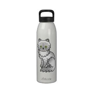 Gato persa de la chinchilla de plata del Tabby Botella De Agua Reutilizable