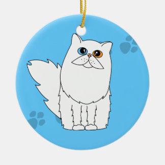 Gato persa/de pelo largo Impar-Observado blanco Pa Adornos