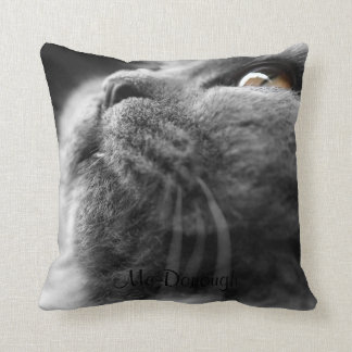 Gato persa gris cojin