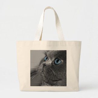 Gato persa gris con los ojos azules bolsas lienzo