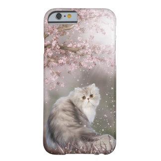 Gato persa hermoso del gatito funda de iPhone 6 barely there