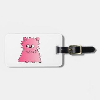 Gato persa rosado etiquetas maletas