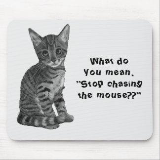 Gato Persecución del ratón dibujo original lind