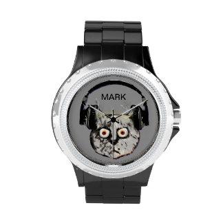 gato personalizado DJ Reloj