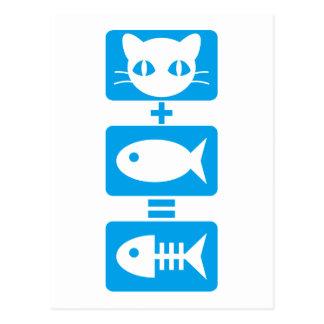 Gato + Pescados = hueso Postal