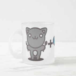 Gato + Pescados = hueso Taza De Cristal