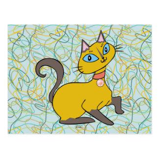 """Gato """"Pistache """" de Siames Postales"""