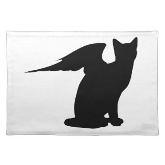 Gato Placemat del ángel Mantel Individual