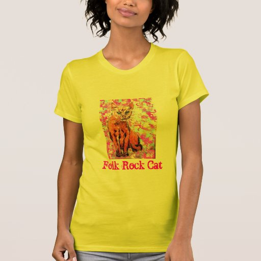 Gato popular de la roca camiseta