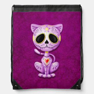 Gato púrpura del gatito del azúcar del zombi mochilas