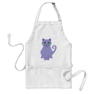 Gato púrpura delantales