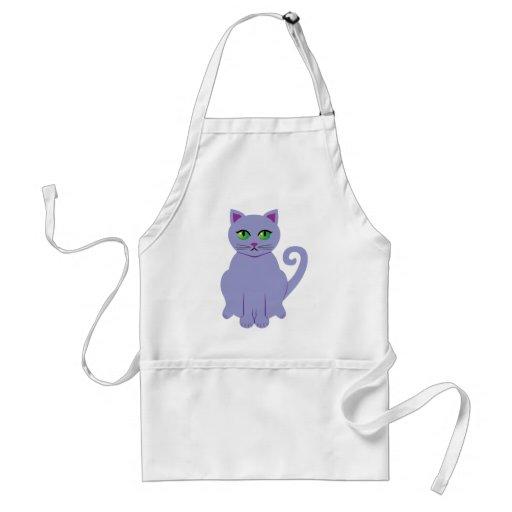 Gato púrpura delantal