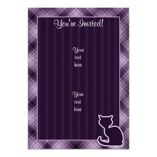 Gato púrpura invitación 12,7 x 17,8 cm