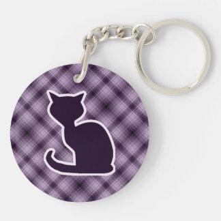 Gato púrpura llaveros