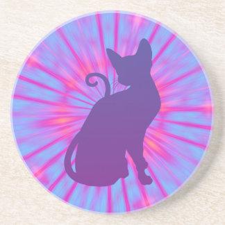 Gato púrpura posavasos personalizados